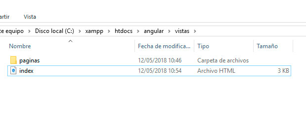 Qué es una single page application - Estructura de trabajo 1